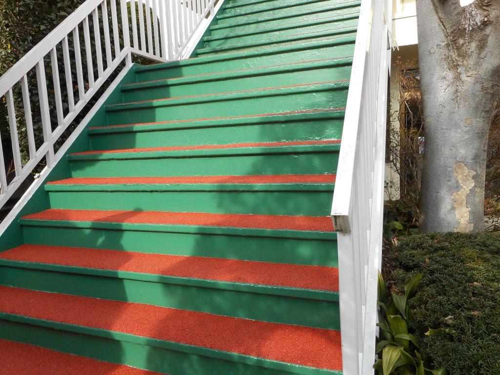 伊勢崎市 Y邸 階段ウレタン防水+ゴムチップ舗装|施工後
