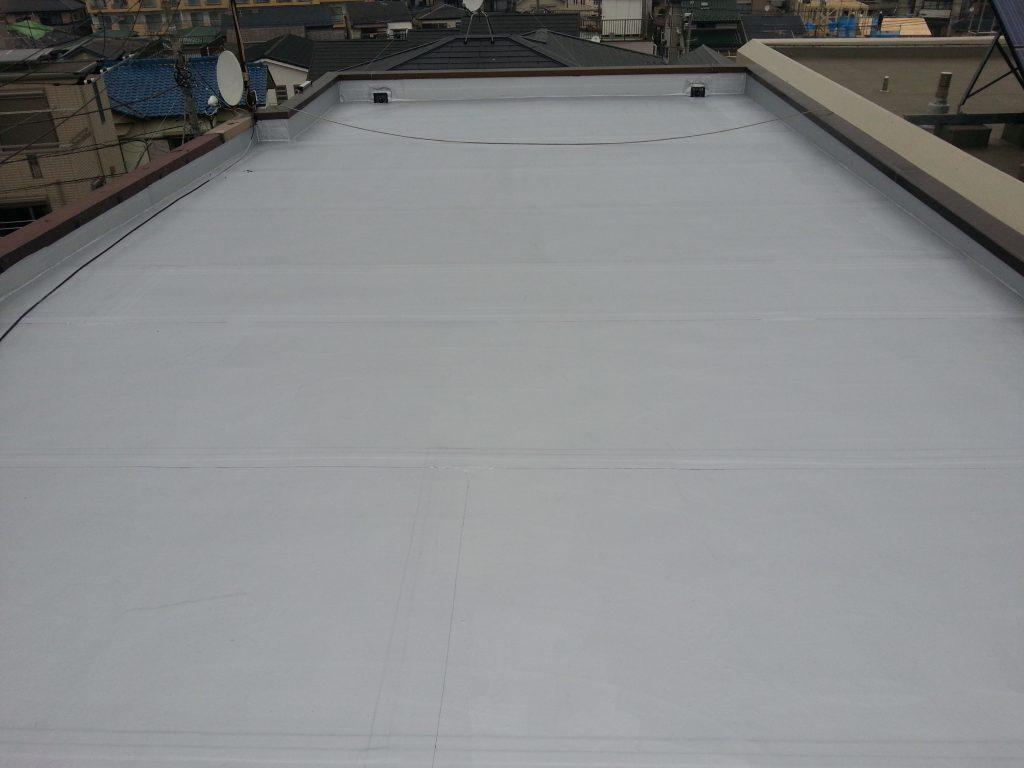 浦和市 K邸 屋上防水 ゴムシート|施工後