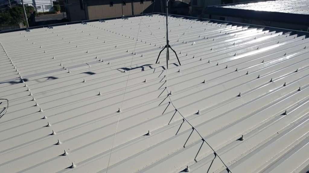 川口市 Dアパート 屋根塗装工事|施工後