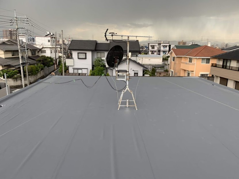 高崎市 M様邸 陸屋根防水工事 ヘーベルハウス|施工後