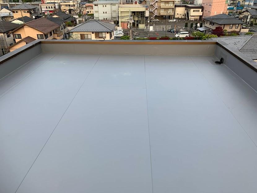 太田市 I様 EV室上 防水工事 雨漏り修理|施工後