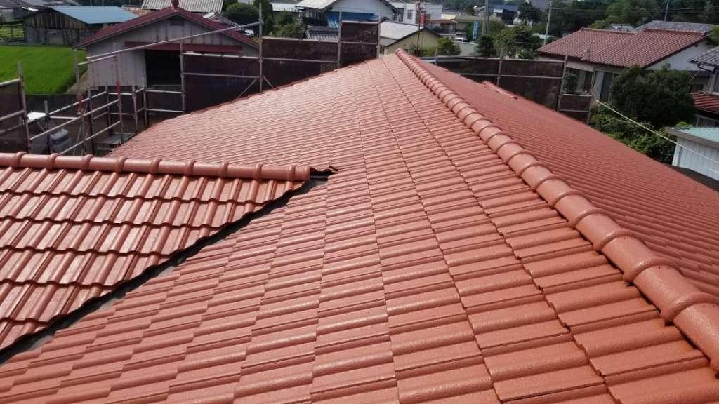 前橋市粕川町 K歯科医院様 屋根塗装工事|施工後