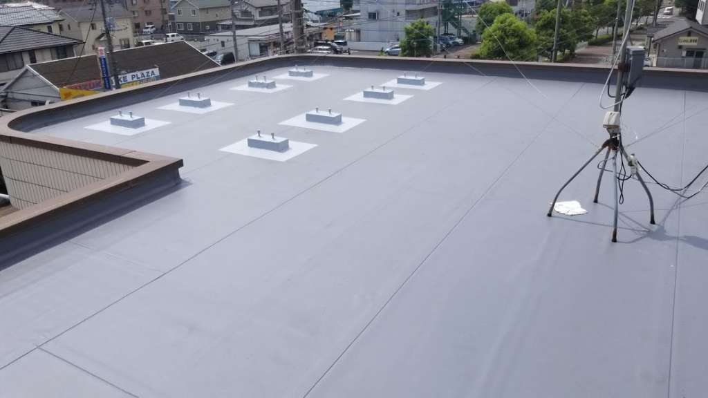 東松山市 Kビル様 屋上防水工事|施工後