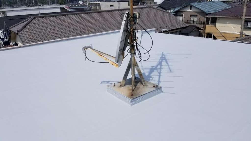東松山市 Pアパート様 屋上防水工事 アスファルト防水|施工後