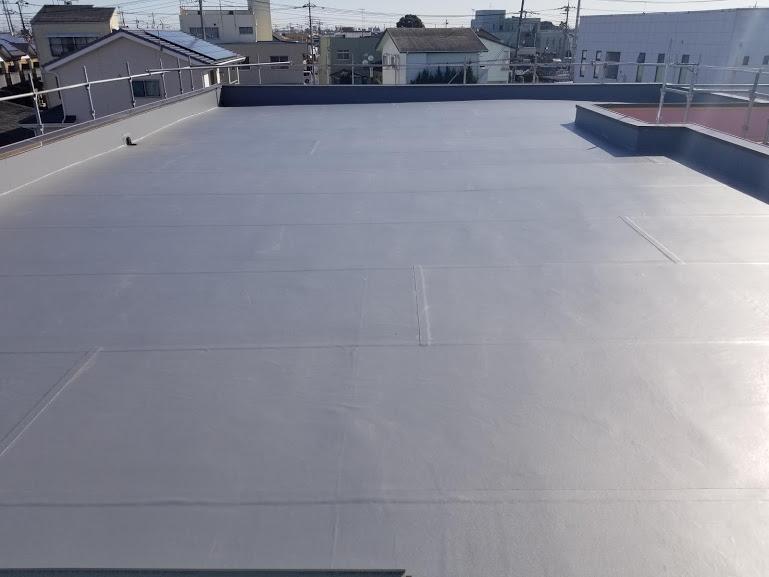 太田市 Iアパート様 陸屋根防水工事|施工後