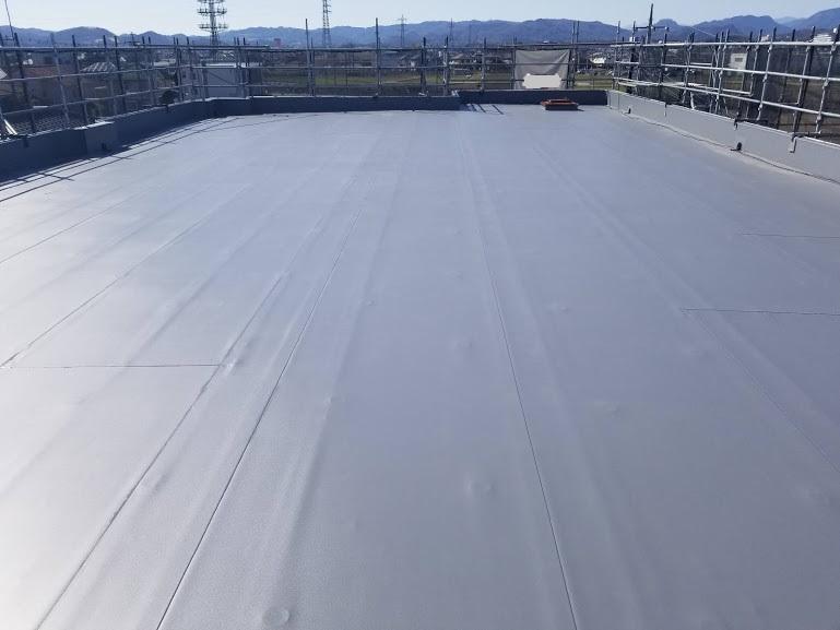 栃木市 YSマンション様 陸屋根防水工事|施工後