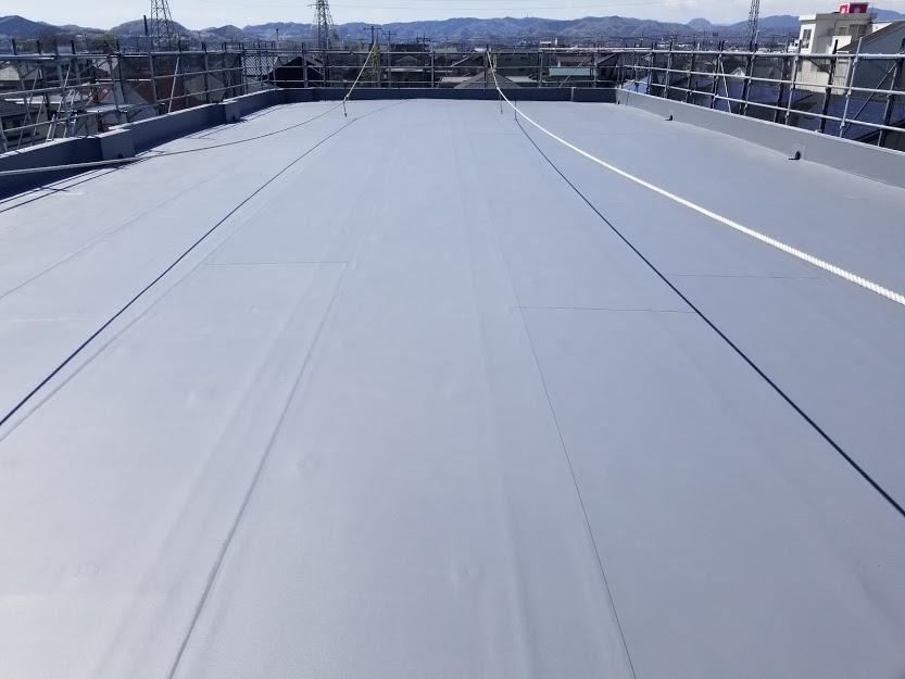 栃木市 YMマンション様 屋上防水工事|施工後