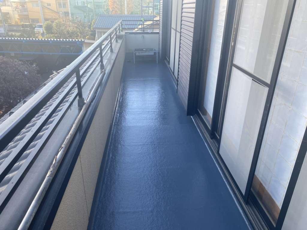 前橋市 A様邸 バルコニー防水工事 FRP防水|施工後